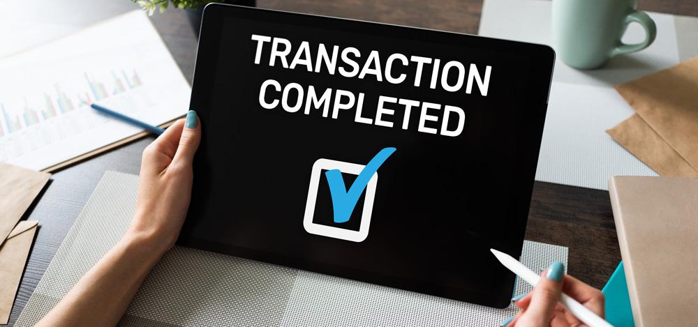 Bcware transaction complete notification